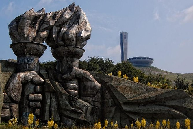 Symbol of the Communism Buzludzha monument and the Rose valley