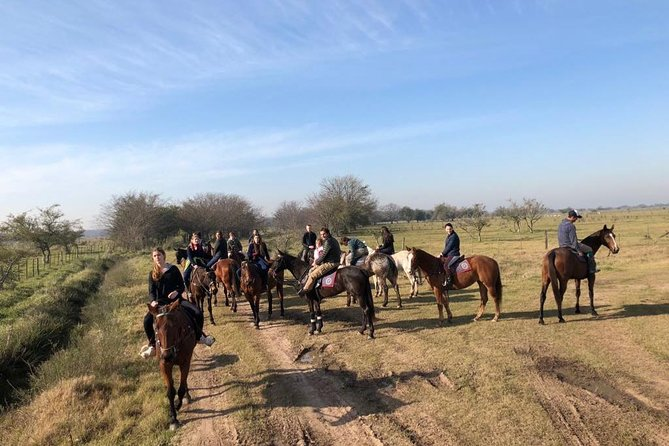 Horseback riding adventure in the wide open Pampas