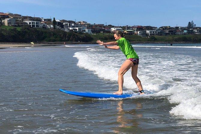 Surfing Lesson in Seven Mile Beach, Gerroa