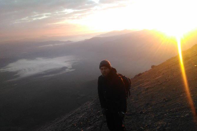 Mountain activity climbing the Misti Volcano, by the easy route, Aguada Blanca