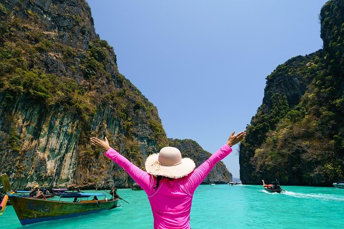 Phi Phi islands trip Maya bay Pileh Losama Khai island by speed boat from Phuket