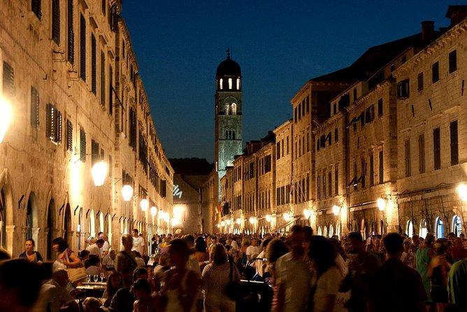 Dubrovnik pela história da noite, vinho e petiscos