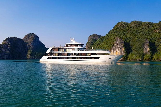Halong Stellar of the seas 5star Cruise 2 nights experiences on Bay