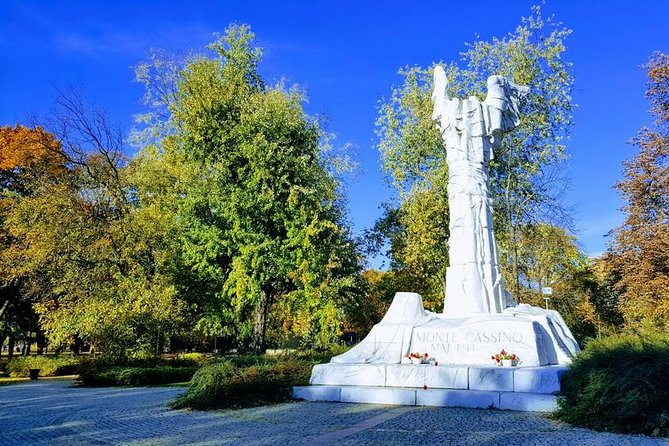 The Monte Cassino Battle Monument in Warsaw, one in which Wojtek the soldier bear participated.