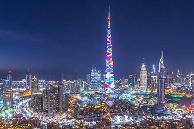 Dubai Night Sightseeing Tour With Fountain & Burj Khalifa LED Show