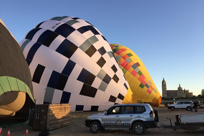 Ready to launch in a morning flight over Segovia