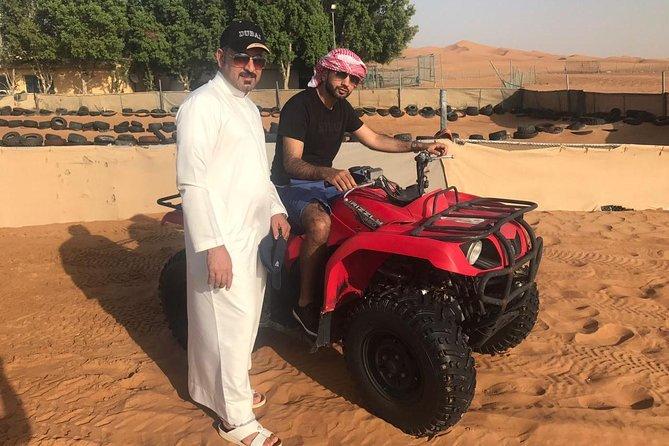 Dubai 30 mins Quad Bike with Evening Safari and ferrari world