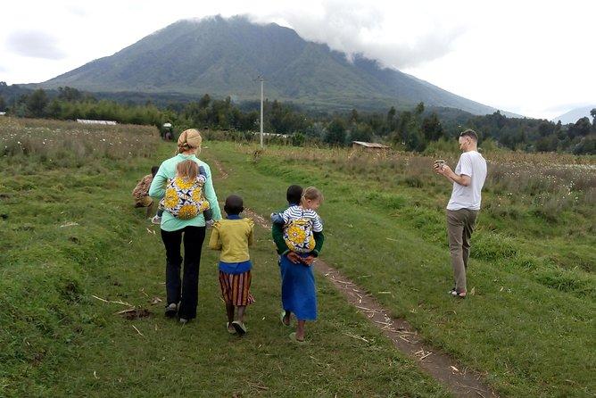 Scenic walk around volcanoes