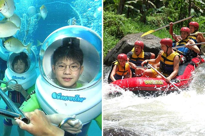 Bali Sea Walker and Ayung Rafting Packages