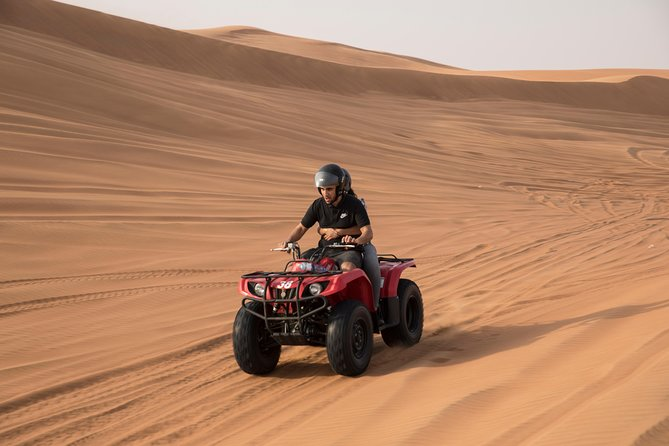 Dubai Morning Quad Bike with Sandboarding and Camel Ride photo 3