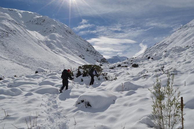 Private Snowshoes Hike Full Day experience in Cajón del Maipo from Santiago