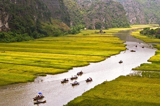 Hoa Lu Tam Coc Mua cave with local village