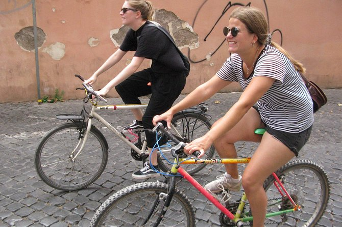 Bicycle, site-seeing, eating, tour in Rome