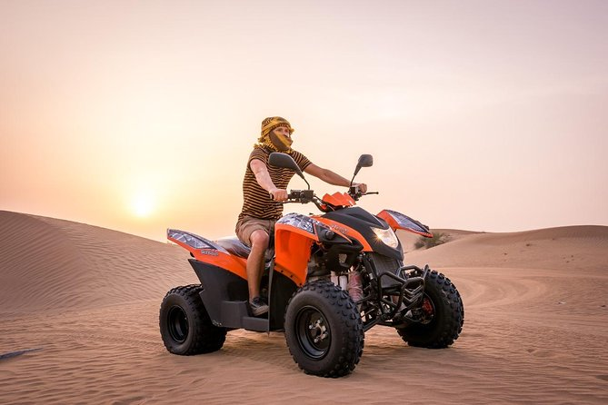 Dubai Red Dunes Safari by Quad Bike, Sand boarding, Camel Ride & BBQ Dinner photo 9