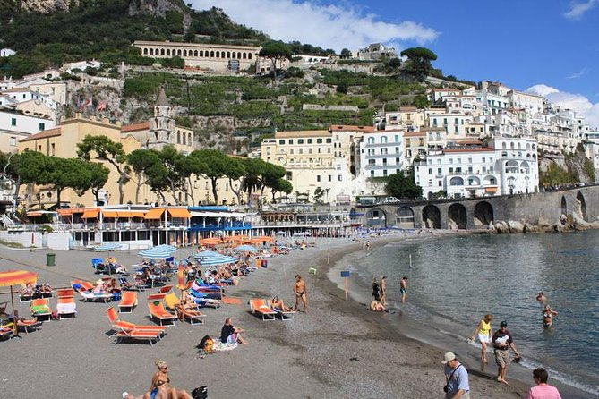 Tour of Amalfi + Emerald Grotto + Positano (Full Day 8h)