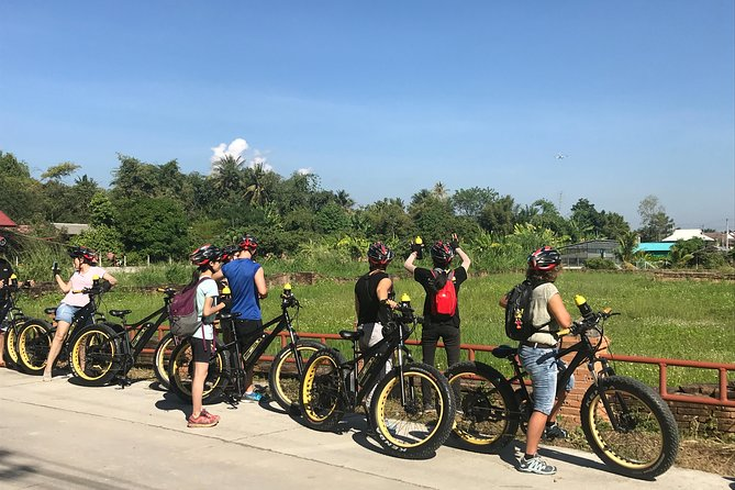 Half-day Ping River and rice paddies E-bike adventure (flat land, GUIDED)