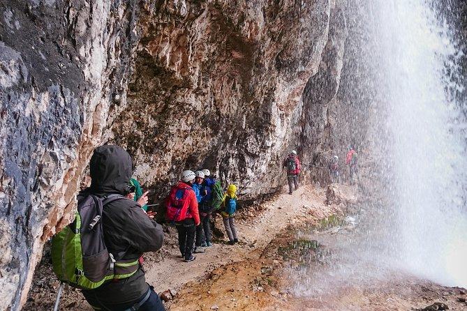 Via Ferrata for Family at Fanes Waterfalls