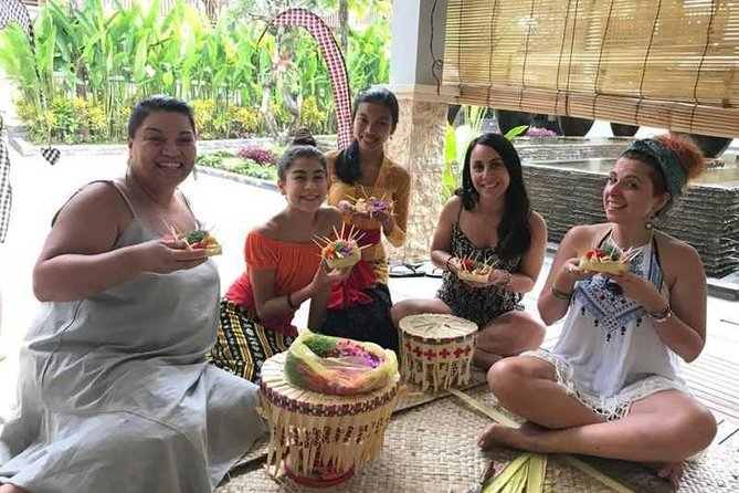 Bali Purification Ritual Offering class and Includes Lunch