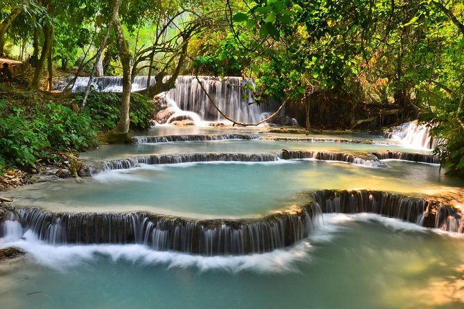 Full Day bamboo experience with cooking class & Kuang si waterfalls