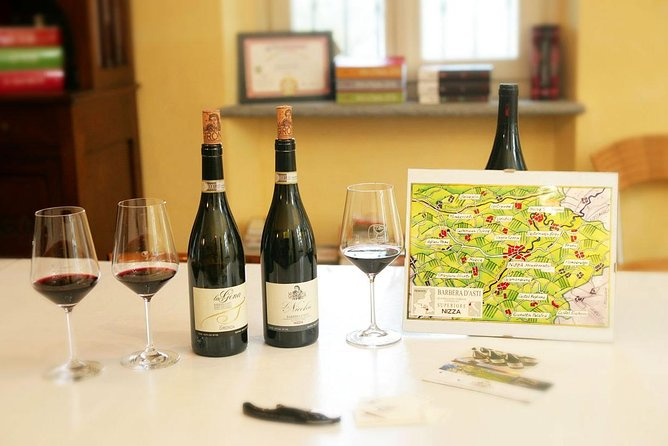 Visit among vineyards and wine cellar with wine tasting in Nizza Monferrato
