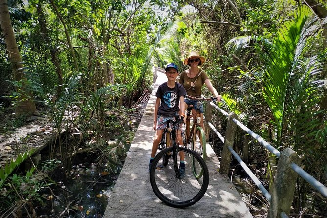 Family Bicycle Tour in the Green Oasis of Bangkok on Bamboo bikes