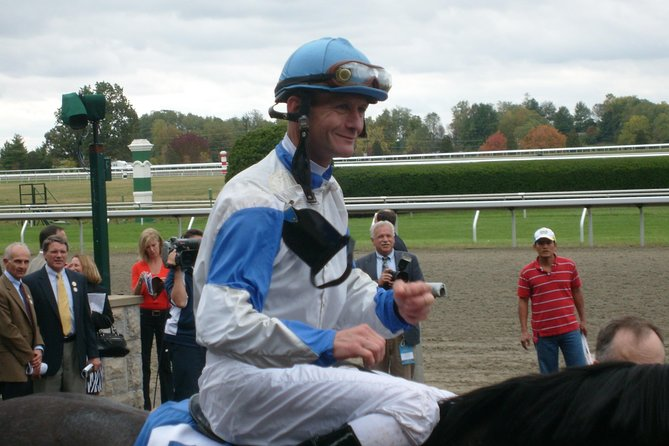 A famous jockey during at Keeneland Race Course