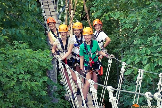 Fully Guided Zipline Canopy Tour through Kentucky River Palisades