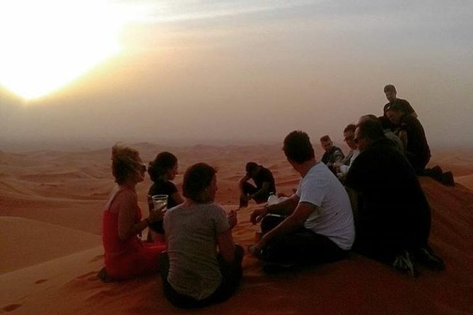 Sunset Camel Ride in Sahara Merzouga Desert Erg Chebbi Dunes photo 2