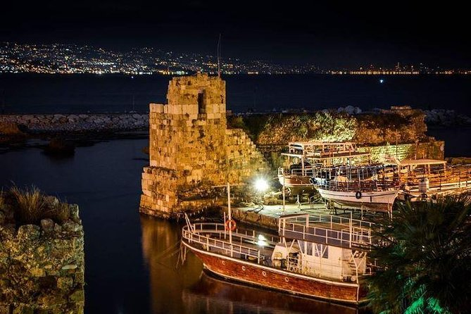 Byblos Castle by night