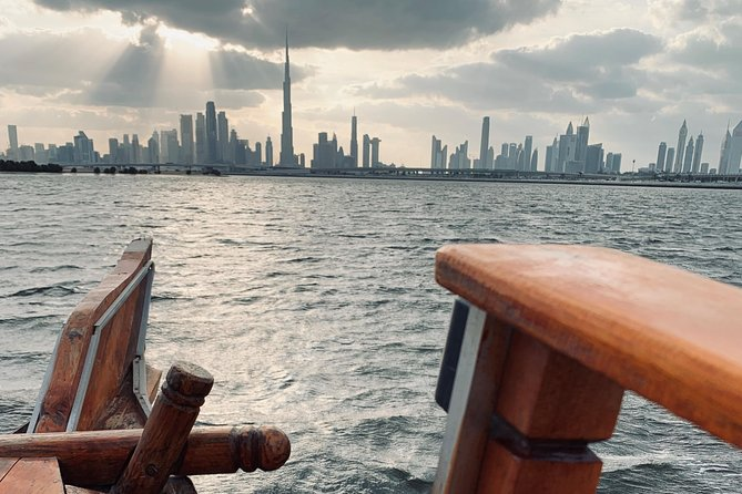 Sunset of Burj Khalifa - 60 Mins Abra (traditional wooden boat) Tour -