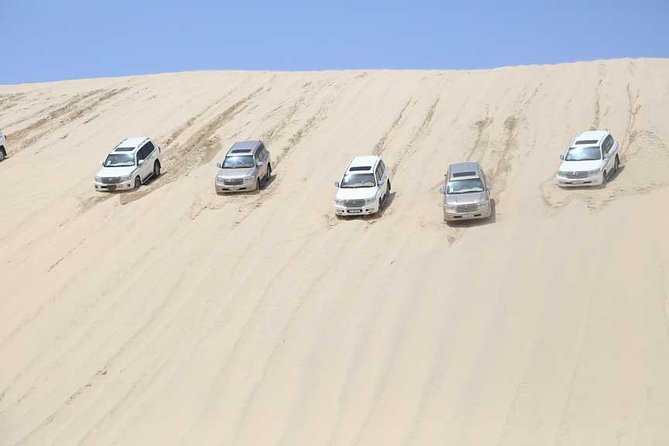 Desert Adventure (airport pick up, 4WD RACE, camp in-land sea & camel ride)