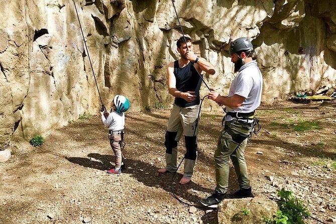 Rock climbing in Tbilisi Botanical Garden