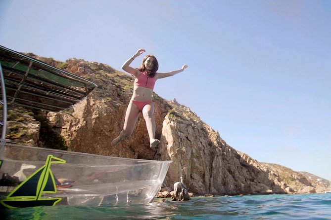 The Arch Tour on a Clear Boat from Cabo San Lucas
