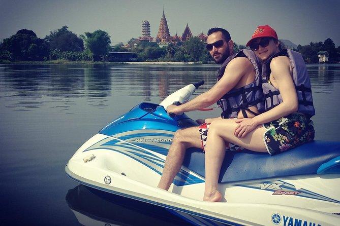 Erawan waterfalls & Safari Jet-Ski on the river Kwai (90min)