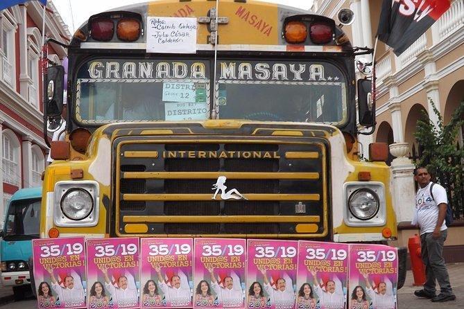 Masaya city by local bus