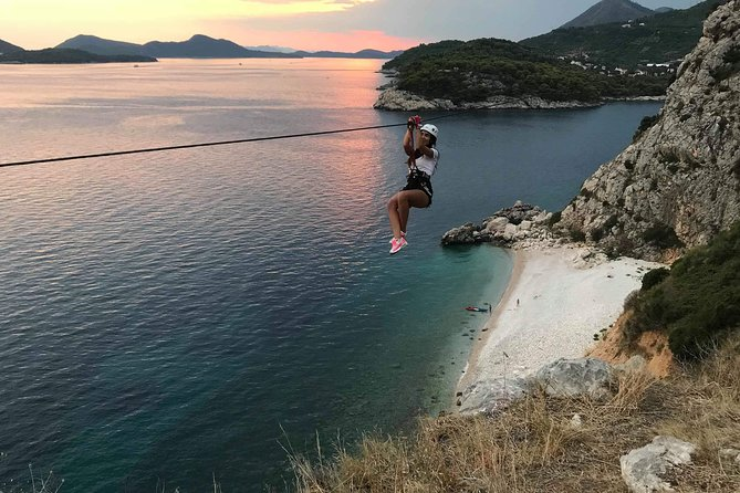 Zipline in Dubrovnik with Views Over Elafiti Islands and Transport