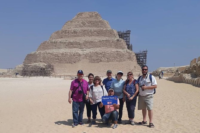 The pyramids of Giza and the sphinx plus Saqqara