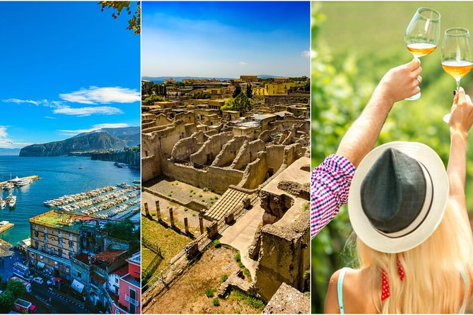 Tour of Sorrento-Herculaneum-WineTasting (FullDay 8h)