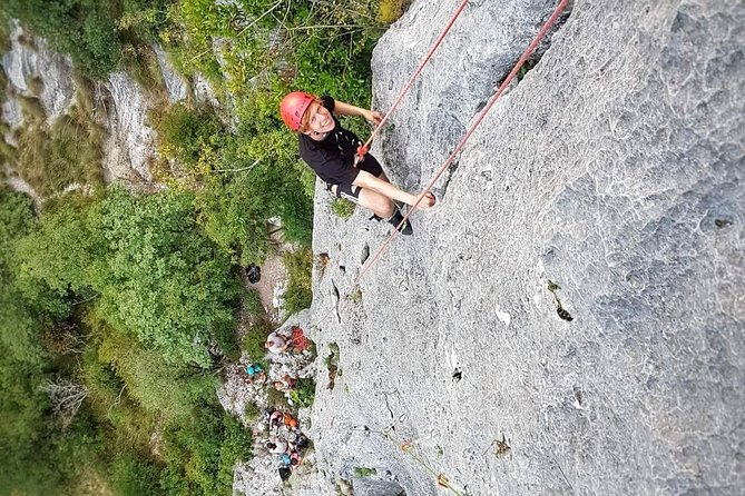 Rock climbing on Slovenian coast (Karst Edge)