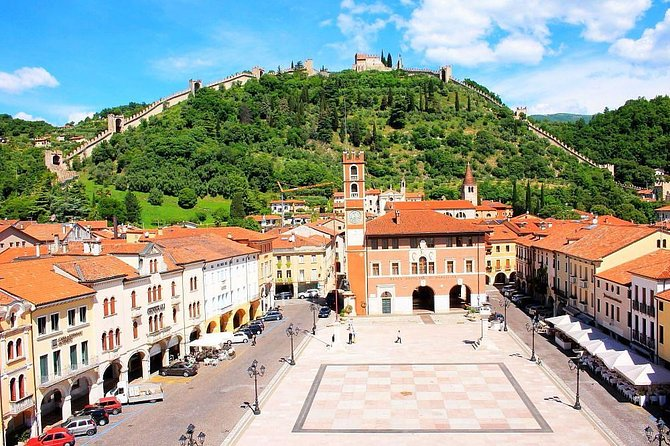 Middle ages, castles, walled towns of Cittadella and Marostica