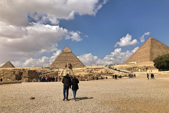 Giza Pyramids, Sphinx & Egyptian Museum treasures with private qualified guide
