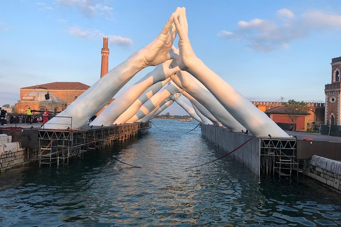 Biennale 2019 art in the arsenal on the Small group 2 hours boat tour