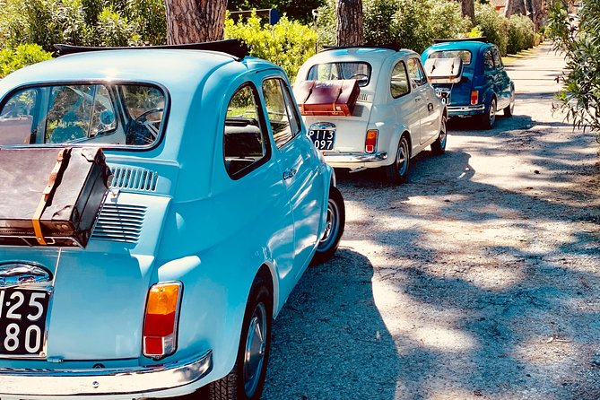 Tour of the Lucca countryside aboard the vintage fiat 500