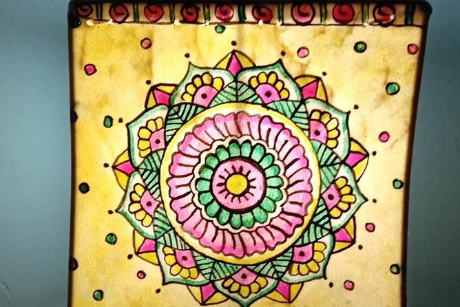 Mandala Lampshades workshop for beginners in Bangalore
