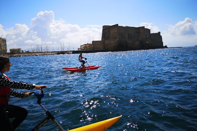 Naples coastline on a water bike