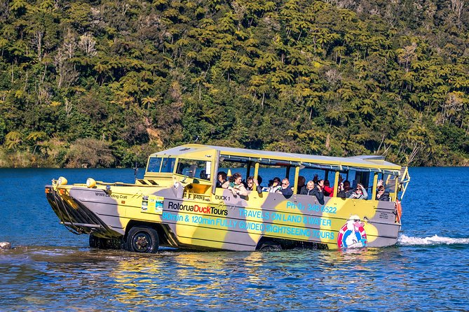 Rotorua Duck Tours - Fully Guided City and Lakes Tour