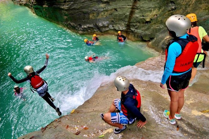 Private Whale Shark Watching and Canyoneering in Kawasan Falls Tour