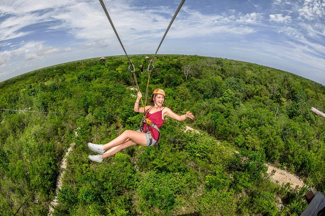 Jungle Maya Native Park Tour with Ziplines, Cenotes & Transportation included