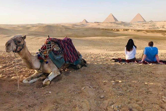 Best Tour Camel Riding of Giza Pyramids at Sunset with Local Bedouin Dinner