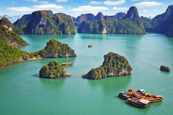 Halong day tour 4 hours Cruise from hanoi city with luxury van